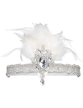 BABEYOND 1920s Damen Stirnband mit Feder 20er Jahre Stil Haarband Inspiriert von Der Große Gatsby Kostüm Accessoires...