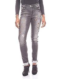 328bf45d0106 ... Femme   Jeans   Arizona. Arizona Trendy Jean détruit avec Bordure Noire