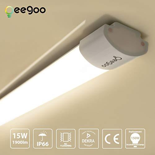 Oeegoo Plafoniera LED per ambienti umidi, da bagno 60 * 7.4 * 4.3/CM 15w 60cm Ip66 4000k