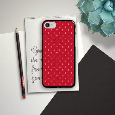 Apple iPhone X Silikon Hülle Case Schutzhülle Anker Sommertrend Rot Hard Case schwarz