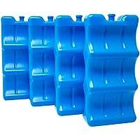 ToCi - Acumulador de frío para botellas, elementos de refrigeración azules para la nevera, 4 acumuladores de frío.