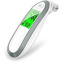 Termómetro Digital Frente y Oído, Annsky Profesional Termómetro Médico Digital de Infrarrojos para la Bebés, Niños, Adultos con Función de Advertencia de Fiebre,Certifica CE