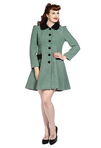 Banned Womens Vintage Retro Coat - Grün Grün