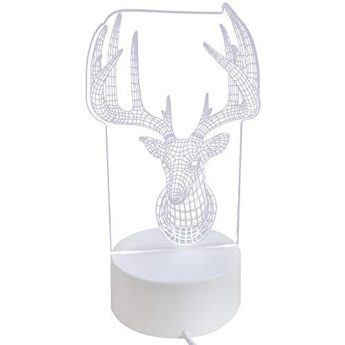 Beetest Veilleuse de Noël, Mode Mignon USB Alimenté 3D LED De Noël Nuit Lumière Lampe pour Party Shop Café Restaurant Bar Vacances Maison Chambre Décoration Renne