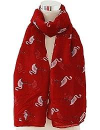 Accessorize-me para mujer, diseño de estampado de flores, diseño de flamencos Sarong Pañuelo de rayón viscosa