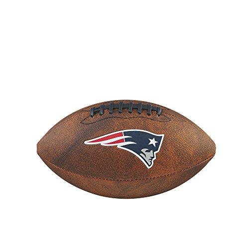 NFL New England Patriots Junior Wilson Throwback Fußball, 27,9cm, braun (Fußball Junior Wilson)