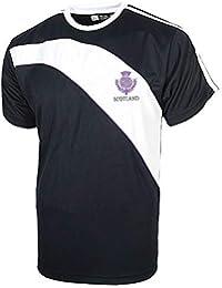 LIVE FOR RUGBY Escocia Thistle Transpirable Camiseta - Azul Marino/Blanco, X-Large