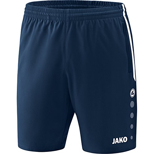 JAKO Kinder Competition 2.0 Shorts, Marine, 128 (Marine-blau-team-logo-shorts)
