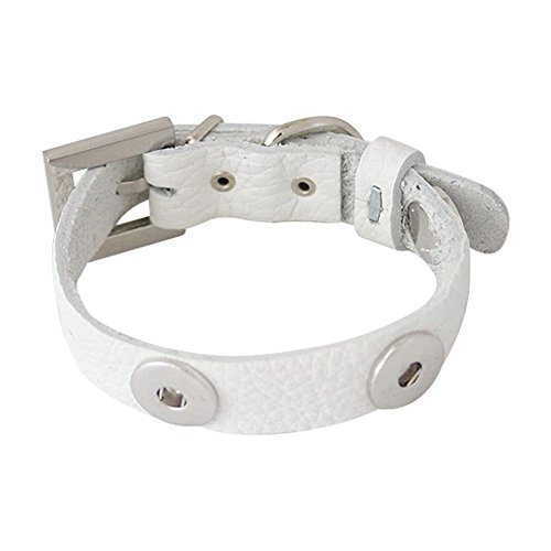 leather-dog-collar-for-click-buttons-white-255-355-cm