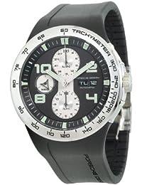 eaf2a4068aed Porsche Design Flat 6 Automatic Chrono P.6340 Black Señor Reloj ...