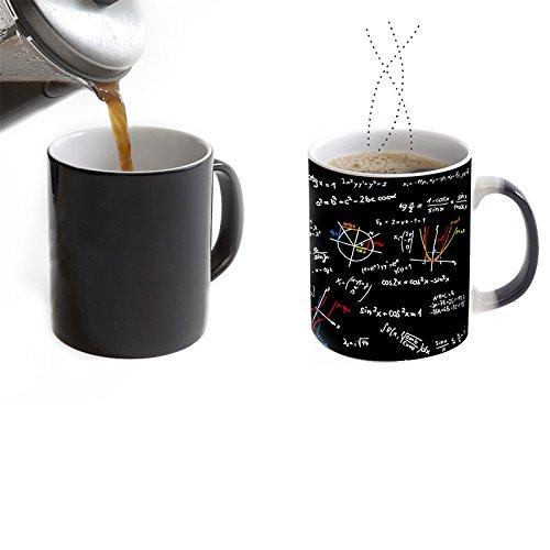 Las fórmulas matemáticas Imprimen la Taza de café Las Tazas de Calor revelan la Taza de Agua de cerámica 350ml