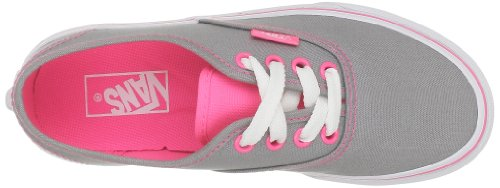 Vans Authentic VJXI4LL Unisex - Kinder Lauflernschuhe (Neon Pop) Frost Grey/Pink
