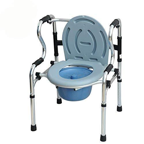 YAMEIJIA Kommode - Bedside Kommode für Senioren, Handicap, Bariatric, Senioren - Tragbar, Leichtgewicht, Klappbarer 3-in-1-Toilettenstuhl mit breitem Sitz -