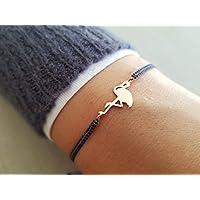Flamingo Armband 925 Roségold Armbänder 925 Echt Silber Rosegold Schmuck Filigran Geburtstag Geschenk Geschenkidee Frauen Damen Trauzeugin Freundin Mutter Tochter …