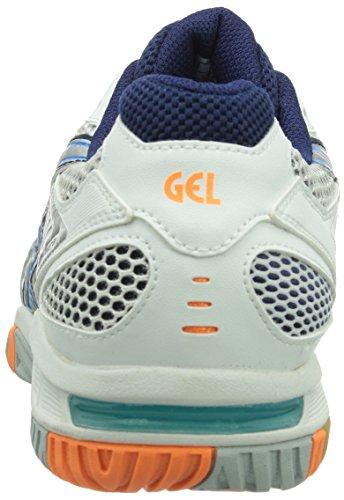 Asics GEL-TACTIC Herren Volleyballschuhe Weiß (WHITE/DIVA BLUE/LIGHTNING 0141)