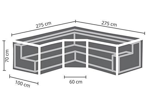 Perel Garden OCLSTRAP Schutzhülle Für Lounge-Set - Trapez, Schwarz, 275 x 275 x 70 cm