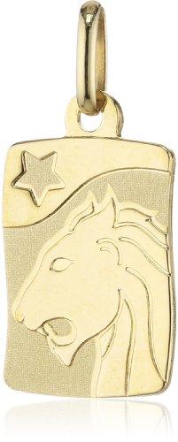 Gold Anhänger Löwen (Amor Unisex-Anhänger Sternzeichen Löwe 333 Gelbgold teilmattiert - 166980)