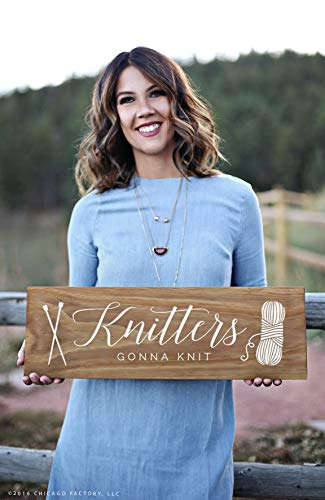 CELYCASY Funny Knitters Gonna Knit Sign - Regalos para tejedores - Nana Regalo (GP1892)
