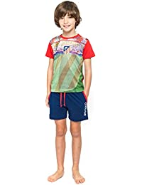 Pijama Atlético de Madrid Niño Manga Corta