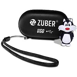 ZUBER® - Memoria USB de 4 GB, 8 GB, 16 GB, 32 GB, 64 GB, 128 GB, 256 GB en 2.0 y 3.0 (16.0GB), Color Negro