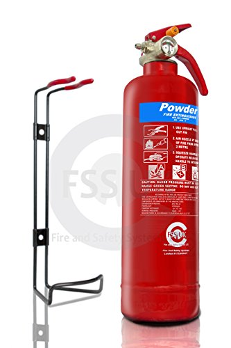 Premium FSS UK 1 KG ABC Dry Powder BSI KITEMARKED FIRE Extinguisher with CE Marked FIRE Blanket. Ideal for Homes Boats Kitchen Workplace Offices Cars Vans Warehouses GARAGES Hotels Restaurants 2