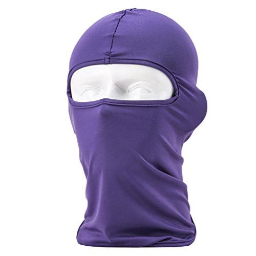 YiJee Masque de Cyclisme Vent Résistant Sunscreen Sport Balaclava Cagoule Violet