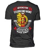 Kultmotiv DDR - Ossi - Sturm UND Wind - Herren Shirt