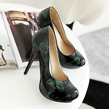 Talloni delle donne Primavera Autunno scarpe formali in similpelle per ufficio Outdoor & amp;Partito & amp Carriera;Abito da sera Stiletto Heel BowknotG US3.5 / EU33 / UK1.5 / CN32