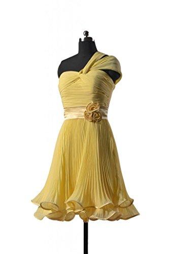 daisyformals Vintage en mousseline de soie Parti robe courte Morden robe de demoiselle d'honneur (bm334re) Jaune - #24-Banana