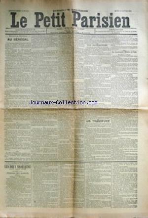 PETIT PARISIEN (LE) [No 5197] du 20/01/1891 - AU SENEGAL LE TIR DES TERRITORIAUX UN TRANSFUGE LE LIEUTENANT WINTER A PARIS LES DEUX MADELEINE