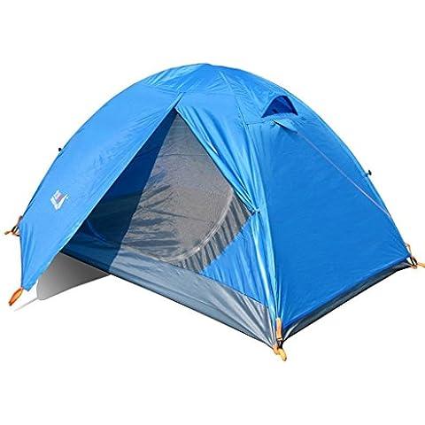 traje de viento de cristal doble poste de la tienda al aire libre contra la tormenta acampar paquete de equipamiento individuales sacos de dormir de la almohadilla de la humedad luces LED