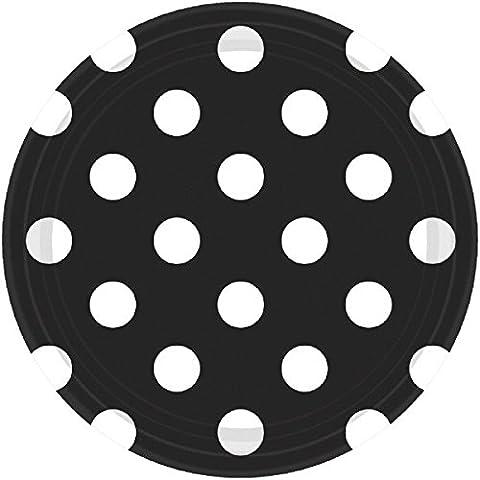 Amscan International–541537–1018cm placa de papel de lunares