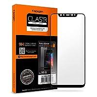 Spigen Full Cover Cam Ekran Koruyucu Xiaomi Mi 8 ile Uyumlu / Maksimum Koruma - Siyah