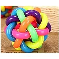 Spritech (TM)-Giocattolo per animali in colori arcobaleno, in gomma per gatti a sfera, confezione da 2 cuccioli