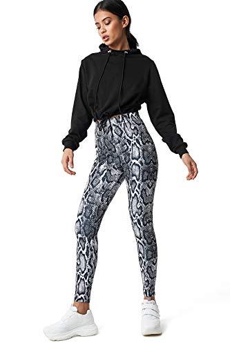 NA-KD Trend - Damen Hosen Snake Print Leggings Multicolor