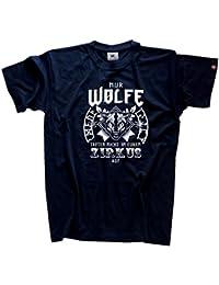 Original Viking-Shirts T-Shirt | Nur Wölfe treten nicht in Eurem Zirkus auf-Wikinger | 100 % Baumwolle | bequem & hoher Tragekomfort