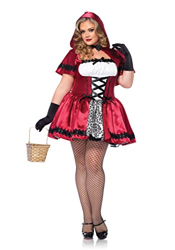 Leg Avenue Gothic Red Riding Hood Plus Size Fancy Dress Costume 6X (Red Riding Hood Kostüm Plus)