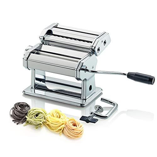 Tivoli macchina per la pasta prepara pasta fresca fatta in casa / 20,5 x 20 x 15,5 cm/pasta fresca rapida e semplice/metallo cromato