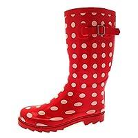 Lora Dora Womens Polka Dot Wellington Boots