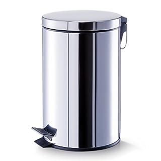 Aqua-Badshop Treteimer, 12 Liter Edelstahl ø 27 x 26 x 40 cm