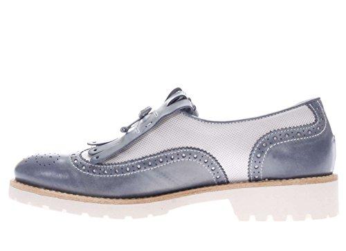 Nero Giardini Donna Aperto in punta P717192D-205 Mocassino fondo gomma con frangia Jeans