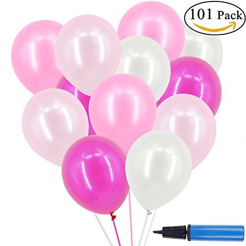 rosa weiß 3,2g Heliumballons für Hochzeit Party Deko in 4 Farben, 100 Stück Ballon Dekoration (4 Farben) (Sommer Beach Party Dekorationen)