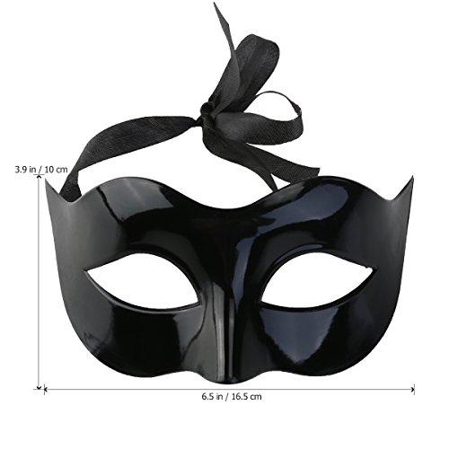 Verkleidung für Herren und Damen, venezianische Schurken-Maske, Augenmaske (schwarz) (Leichte Kost Kostüme)