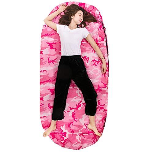 Kältebeständiger Schlafsack Erwachsene im Freien große Indoor-Single Männer und Frauen Winter Verdickung Reise warme tragbare Schlafsack, Camouflage 105 * 230cm