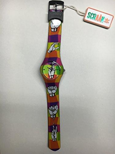 Cursonline® Scraàk Para Hombre Reloj Unisex Para Niño, Colección Round SX12 Diseño Fantástico Hands Manos, Col 109-10