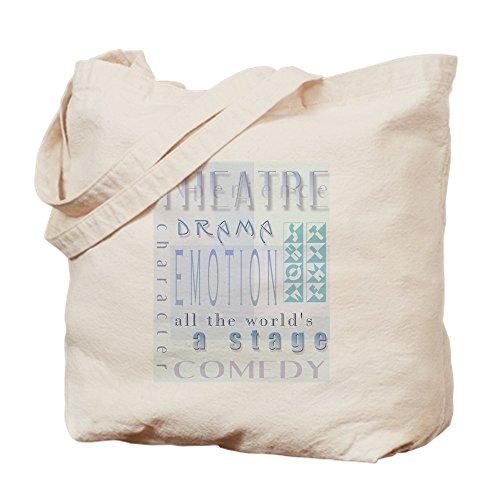 CafePress-Theater Lover (blau) Tasche-Leinwand Natur Tasche, Reinigungstuch Einkaufstasche Tote S khaki