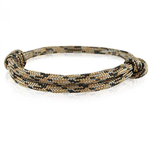 Skipper Surfer-Armband mit Segelknoten für Damen und Herren - Braun/Schwarz/Grau 6920 (Authentisch Mens Gold-armband)