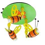 Elobra Kinder Lampe Deckenrondell Hummel Deckenleuchte Kinderzimmer Holz 122150