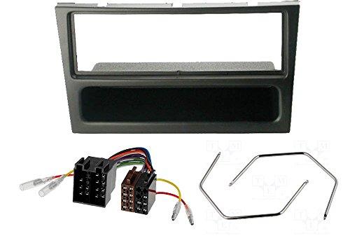 Audioproject  A189 - Einbau-Set Radio-Blende OPEL Corsa C Combo Omega B Astra G Vectra C Meriva Agila Tigra - Radio-Adapter Entriegelungsbügel schwarz