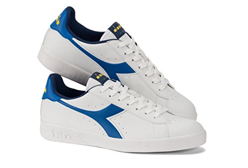 Diadora chaussure Sneaker Running Jogging Homme Game P WHT/Skydriver/Vibrant Yell Bianco
